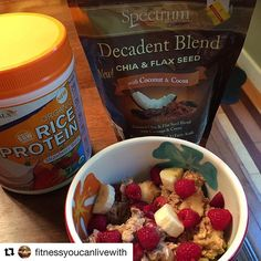 #Repost @fitnessyoucanlivewith  ・・・ Oatmeal protein bowl : Growing Naturals strawberry burst protein powder banana raspberries cherries oats  spectrum flax mix @growingnaturals #gnfitchallenge #growingnaturals #riceprotein #fitfoods