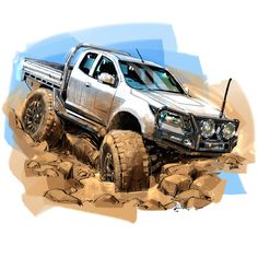 Pictures To Draw, Car Pictures, Jeep Tattoo, 4x4, Flower Png Images, Rendering Art, Car Colors, Truck Design, Car Images
