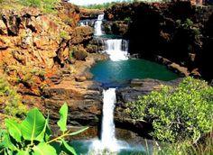 austrailia   Tumblr Mitchell Falls, Western Australia, Great Photos, Adventure Travel, Travel Destinations, Waterfall, Beautiful Places, To Go, Awesome
