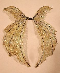One of a Kind Fairy Wings-Iridescent-On Golden Wings- Doll and Bear Wings. $20.00, via Etsy.