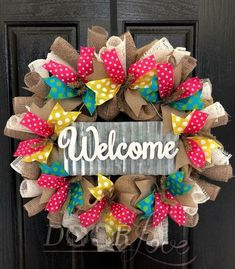 60 Beautiful Front Door Summer Wreath Decor Ideas 54 – Home Design Wreath Crafts, Diy Wreath, Wreath Making, Wreath Ideas, Mesh Wreath Tutorial, Deco Mesh Wreaths, Burlap Wreaths, Deco Mesh Crafts, Summer Wreath