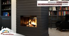 Wood fireplace / contemporary / closed hearth / built-in Stove Fireplace, Wood Fireplace, Fireplaces, Antibes, Foyers, Insert Double Face, Pellets, See Through Fireplace, Library Bookshelves