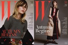Edie Campbell Wears Burberry for W Korea Magazine Cover Girl August 2016 Editorial Look-01