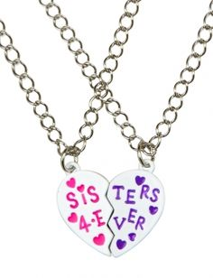 At Justice - idea for the girls. Big Sis Little Sis Magnetic Necklaces