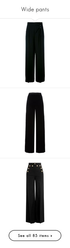 Wide pants by hellokpopoutfit on Polyvore featuring polyvore, pants, pant, wide, widepants, women's fashion, clothing, black, t by alexander wang pants, pleated pants, pleated trousers, wrap around pants, t by alexander wang, trousers, velvet trousers, high waisted palazzo trousers, elastic waistband pants, velvet pants, elastic waist pants, bottoms, calças, wool trousers, wide leg trousers, high-waisted pants, high waisted wide leg trousers, wide leg sailor pants, capris, slim leg…