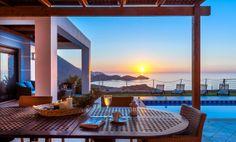 Ocean Luxury Villas, lovely sea view 3-bedroom villas, 5 km from Bali, Rethymno