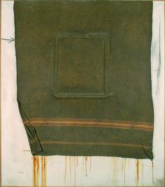 ANTONI TAPIES, Cadre et couverture, Óleo sobre lienzo, 197 x 192 cm.