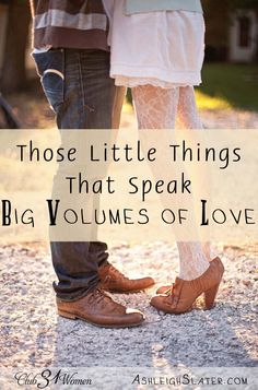 What are the things that speak big volumes of love to your man? Those small things that mean so much to him? Here's how you can train yourself to be an expert in the ways of your husband! Those Little Things That Speak Volumes of Love ~ Club31Women