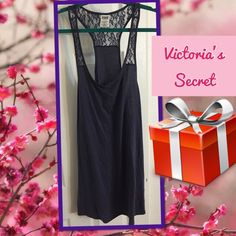 Victoria's Secret gray dress  NWOT  Gray blue, stretch and comfortable! Great for wearing to the beach. Thanks for looking!  HP 6.21.15 *Casual Cool* party by @freneticmadness  ‼️ Note: VS Pink sizes run slightly smaller than normal adult sizes. ‼️ PINK Victoria's Secret Dresses
