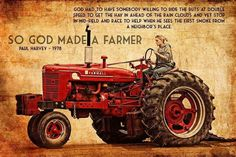 To farmers all out there thankyou