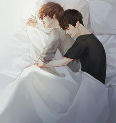 Levi x eren Manga Anime, Fanarts Anime, Manga Boy, Anime Characters, Cute Gay Couples, Anime Couples, Hot Anime Guys, Anime Love, Levi X Eren