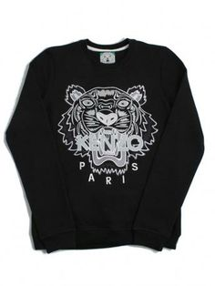 all black kenzo sweatshirt