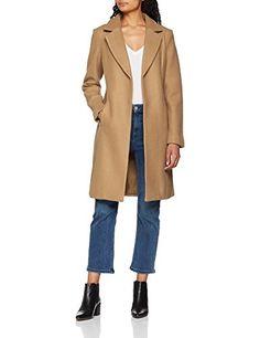 Manteau mi long femme marron