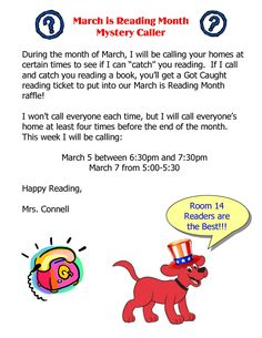March is Reading Month Ideas-Myster Caller | Scholastic.com