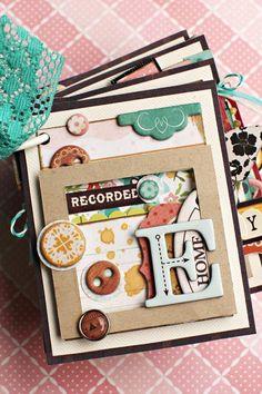 mini album by CP Designer Christine Middlecamp - Scrapbook.com - #scrapbooking #minialbums #cratepaper