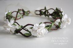 Floral crown - wedding crown - floral headpiece on Etsy, 30,00€