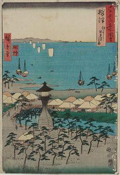 5.五畿七道 ごきしちどう Gokishichido/ 摂津 住よし 出見のはま せっつ すみよし いでみのはま Settu Sumiyoshi Ideminohama