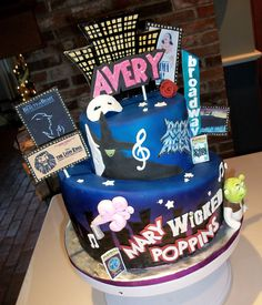 Musical Theater Logo's Cake