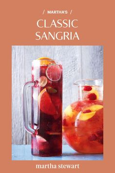 Give this sangria time to sit -- the longer the fruits and wine get to know each other the better. #marthastewart #recipes #recipeideas  #drinkrecipes #drinkideas #fundrinkrecipes