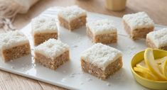 Want to sneak more vegies into your dishes? Sweeten the deal with this melt-in-your-mouth Lemon Slice. Coconut Icing, Lemon Icing, Snack Recipes, Dessert Recipes, Snacks, Desserts, Lemon Slice, Creative Food, Vanilla Cake