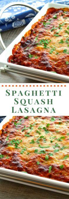 Super healthy, gluten-free spaghetti squash lasagna. So delicious you won't miss the pasta. Mom's Kitchen Handbook.