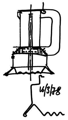 Richard Sapper | Sketch for Espressomaschine, 1978/Alessi