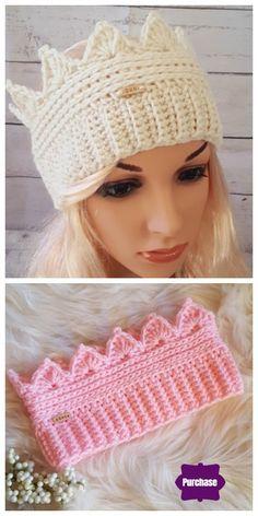 Crochet Crown Ear Warmer Free Crochet Pattern – All Sizes - .-Crochet Crown Ear Warmer Free Crochet Pattern – All Sizes – Crochet – Tutorials Crochet Crown Ear Warmer Free Crochet Pattern – All Sizes - Crochet Crown, Crochet Headband Pattern, Crochet Beanie, Crochet Patterns, Crochet Ideas, Crochet Headbands, Knitting Patterns, Knit Headband, Crochet Tutorials