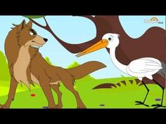 Themes: The Wolf and the Crane - Aesop's fables