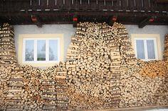 impressive woodpile in austria