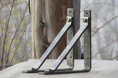 Shelf Brackets |  Wrought Iron Corbel 8 x 8 | Rustic Industrial Wall Bracket…