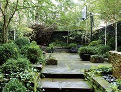Urban Garden Design Julianne Moore's New York City garden was designed by Sawyer