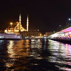 """""""Istanbul night"""" photo by Night Photos, Come And See, Istanbul Turkey, Earth, India, Instagram Posts, Travel, Goa India, Viajes"""
