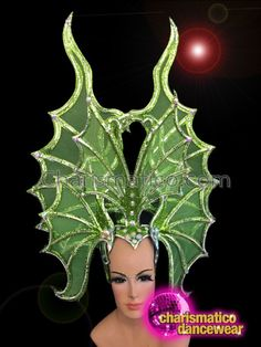 CHARISMATICO Butterfly Inspired Performance Headdress with Sequins and Studded Glittering Details Drag Queen Costumes, Drag Queen Outfits, Tax Payment, Headdress, Abstract Pattern, Dance Wear, Sequins, Butterfly, Glitter