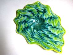 Hand Blown Glass Art Platter Bowl Wall Hanging 46 | eBay