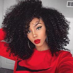 """422 次赞、 3 条评论 - Hellena (@hotbeautyhairproduct) 在 Instagram 发布:""""Hot beauty hair  Kinky Curly wig  #makeup #lips #fashion #inspiration #longhair #kinkycurly…"""""""