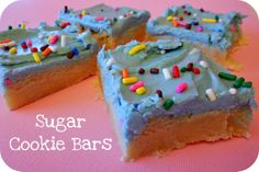 Six Sisters' Stuff: Sugar Cookie Bars and Mom's Frosting Recipe