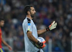 Gianluigi Buffon of Italy looks on during the FIFA 2018 World Cup Qualifier between Italy and Spain at Juventus Stadium on October 6, 2016 in Turin, Italy.