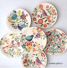 see haghighi pottery # underglazepainting # iranianartist # seerehhaghighi # instapottery # instaceramic # iranianceramic # underglaze… Ceramic Cafe, Ceramic Studio, Ceramic Plates, Ceramic Pottery, Pottery Art, Decorative Plates, Slab Pottery, Pottery Studio, Pottery Painting Designs