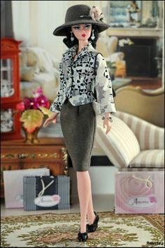 Anicetta OOAK fashion for Silkstone Barbie, Fashion Royalty.  II..35.19.2 qw