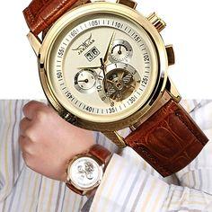 $23.37 (Buy here: https://alitems.com/g/1e8d114494ebda23ff8b16525dc3e8/?i=5&ulp=https%3A%2F%2Fwww.aliexpress.com%2Fitem%2F2016-hot-sale-JARGAR-Casual-Watch-Relogios-Masculino-Casual-Leather-Tourbillon-Automatic-Mechanical-Men-s-Watch%2F32655571860.html ) 2016 hot sale JARGAR Casual Watch Relogios Masculino Casual Leather Tourbillon Mechanical Men's Watch Multifunction for just $23.37