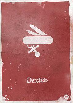 Dexter (2006–2013) ~ Minimal TV Series Poster by Manuel Rodriguez