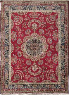 "OLD KERMAN Origin: IRAN Size: 10' 0"" x 13' 6"" Rug ID # 7659"