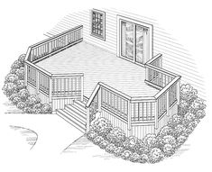 Eplans Deck Plan - The Perfect Fit from Eplans - House Plan Code HWEPL74897