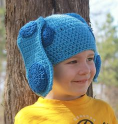 Blues Clues Crochet Hat Youth Size by ImSewCrafty on Etsy