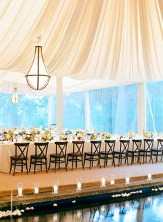 Seriously in love with that ceiling treatment! // Burlingame Country Club Wedding // photographer: Jose Villa