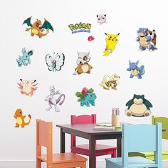 Free Ship Pokemon Go Cards Game Wall Stickers Pikachu Kids Decals Decor Art Gift Pokemon Wall Stickers, Custom Wall Stickers, Kids Room Wall Stickers, Nursery Wall Stickers, Wall Decals, Pokeball Diy, Pikachu Pokeball, Kids Living Rooms, Vinyl Sticker Sheets