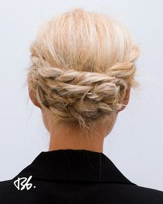 messy, low milkmaid braids // perfect for work #hair
