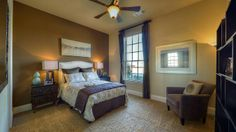 Guests will love staying in this beautiful room by Darling Homes at The Ridge at Whitley Place. #bedroom #bedroomdecor