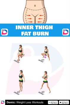 Inner Thigh Fat Burn - Who Is Gabi Butler? Back Fat Workout, Butt Workout, Gym Workouts, At Home Workouts, Fitness Workout For Women, Yoga Fitness, Fitness Studio Training, Workout Bauch, Thigh Exercises