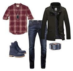 A menswear look from February 2017 featuring mens curved hem t shirt, mens mid rise jeans and men's four pocket jacket. Browse and shop related looks. Country Man, Jack Jones, Emporio Armani, Timberland, Hollister, Diesel, Men's Fashion, Menswear, My Style